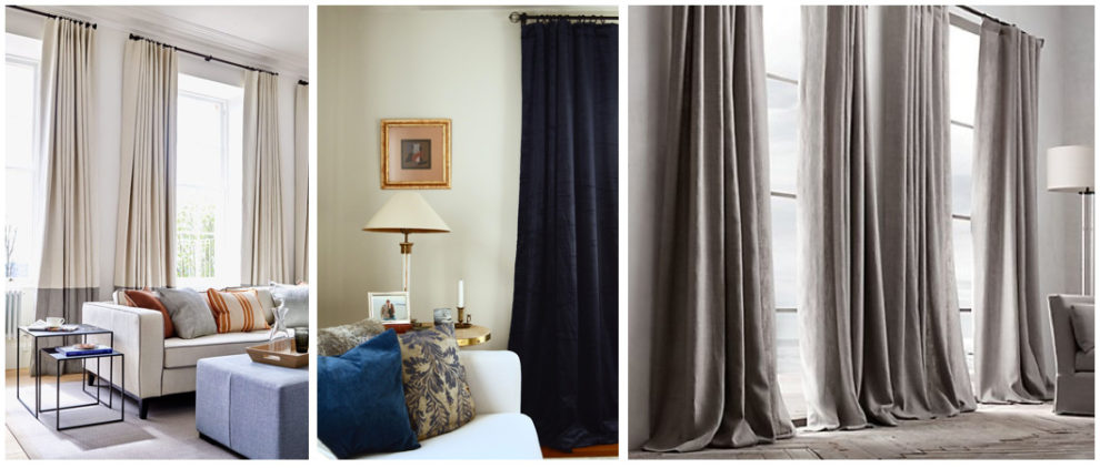 London Essentials Sail Pleat Curtain Designs