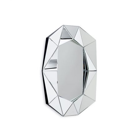 Diamond Large Mirror, Silver