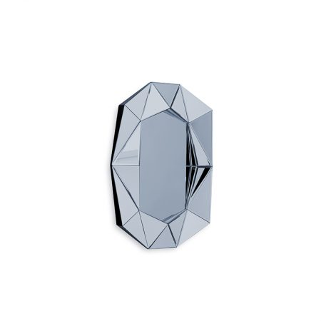 Diamond Small Mirror, Midnight Blue