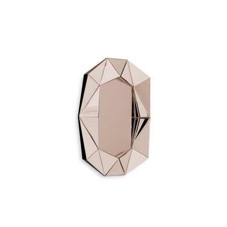 Diamond Small Mirror, Rose Gold