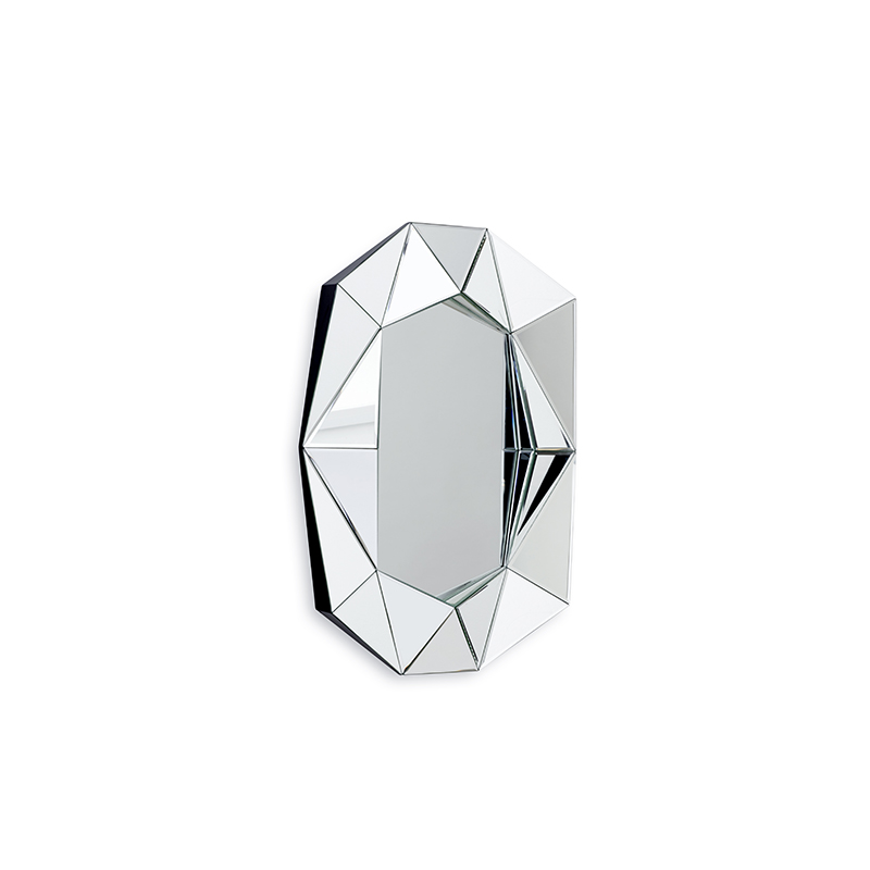 Diamond Small Mirror, Silver