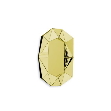 Diamond Small Mirror, Yellow Gold