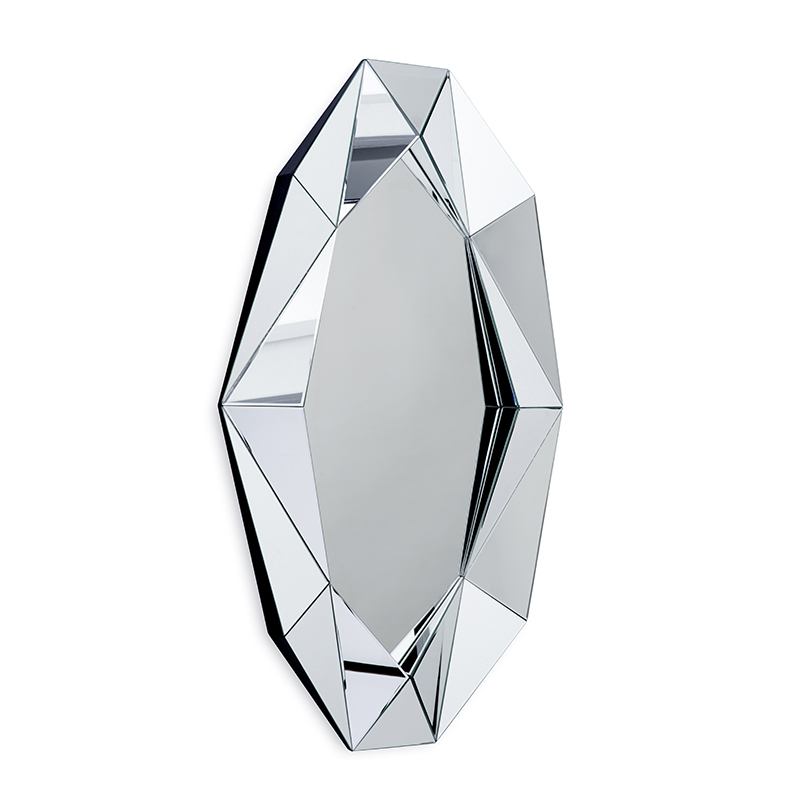 Diamond XL Mirror, Silver