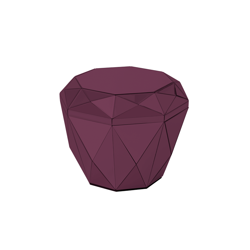 Diamond Table, Burgundy