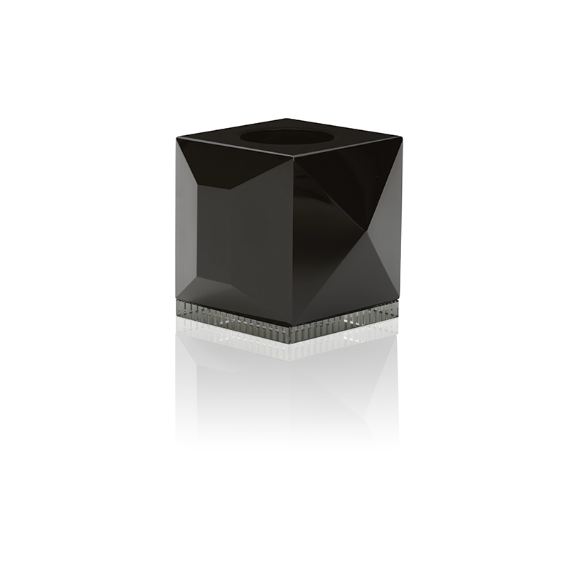 Ophelia Candleholder, Black Clear