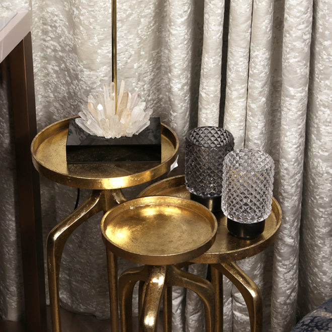 Sid Table Set of 3, Gold