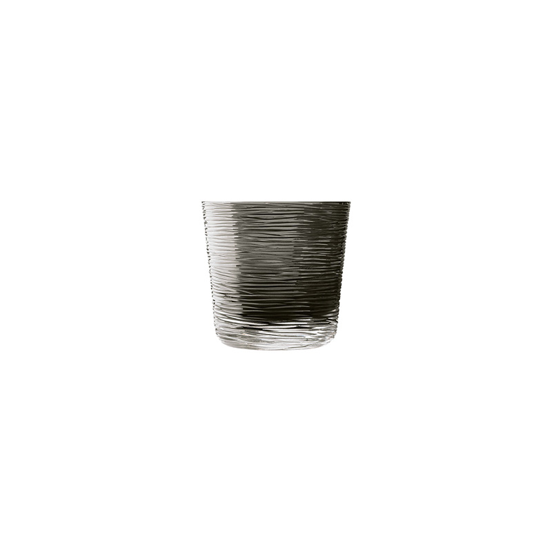 Groove Double Whiskey Glass