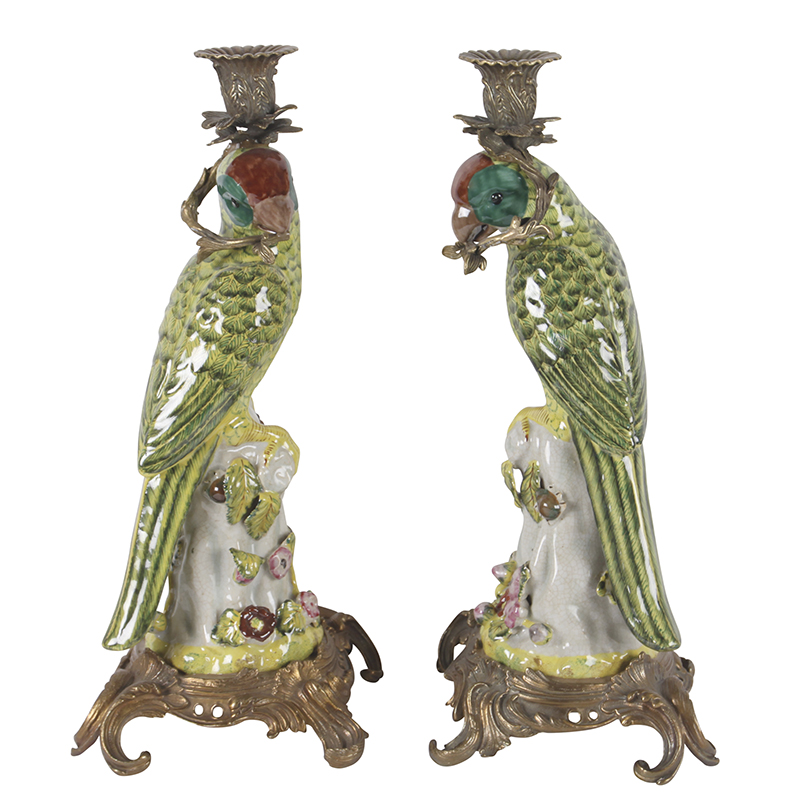 Parrot Candleholders