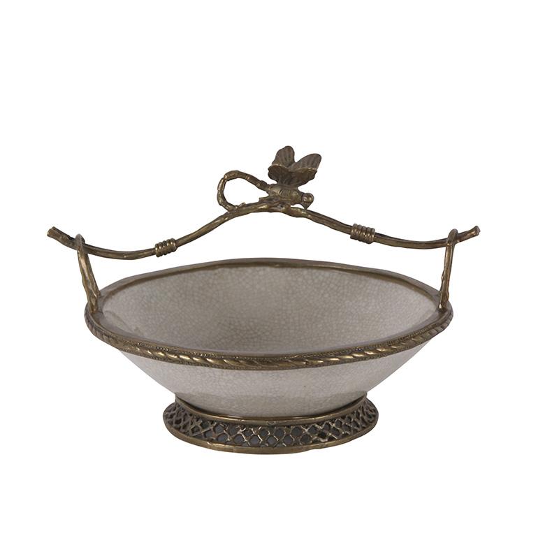Dragonfly Bowl, White