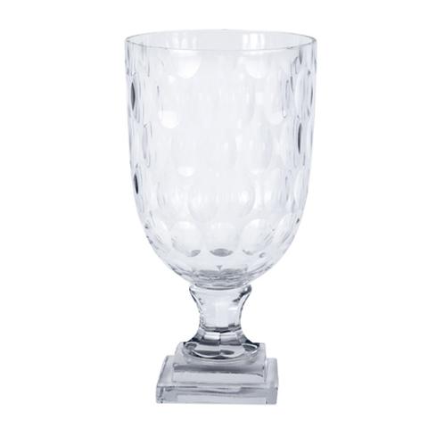Hurricane Glass Oval Cut Small