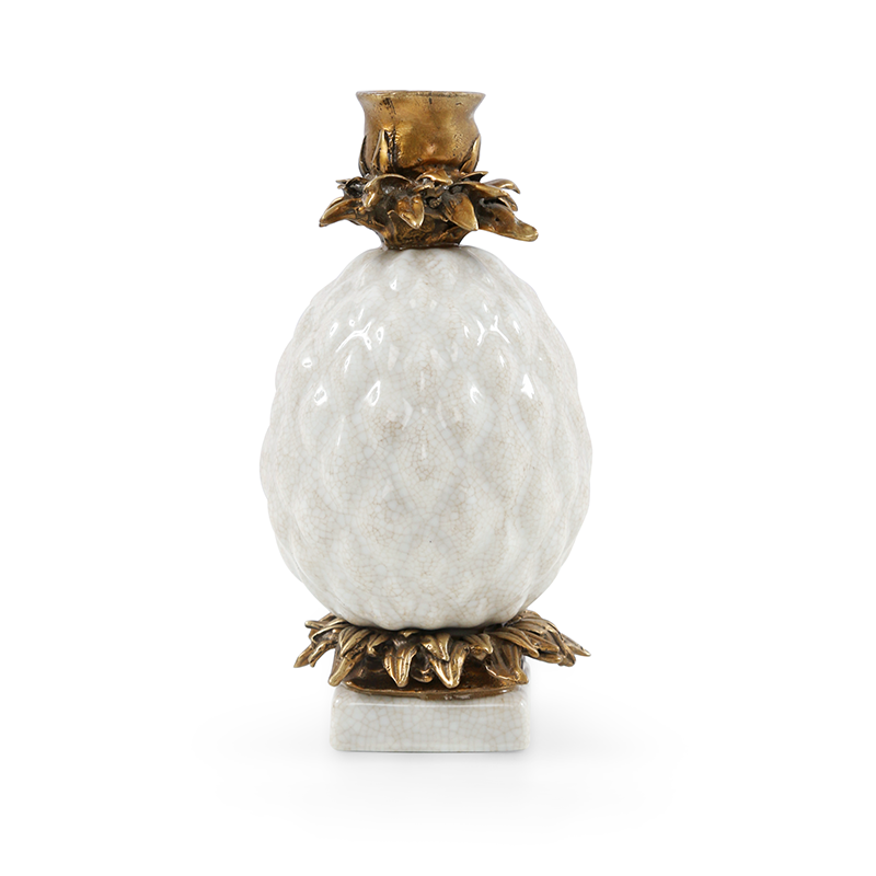 Pineapple Candleholder, White