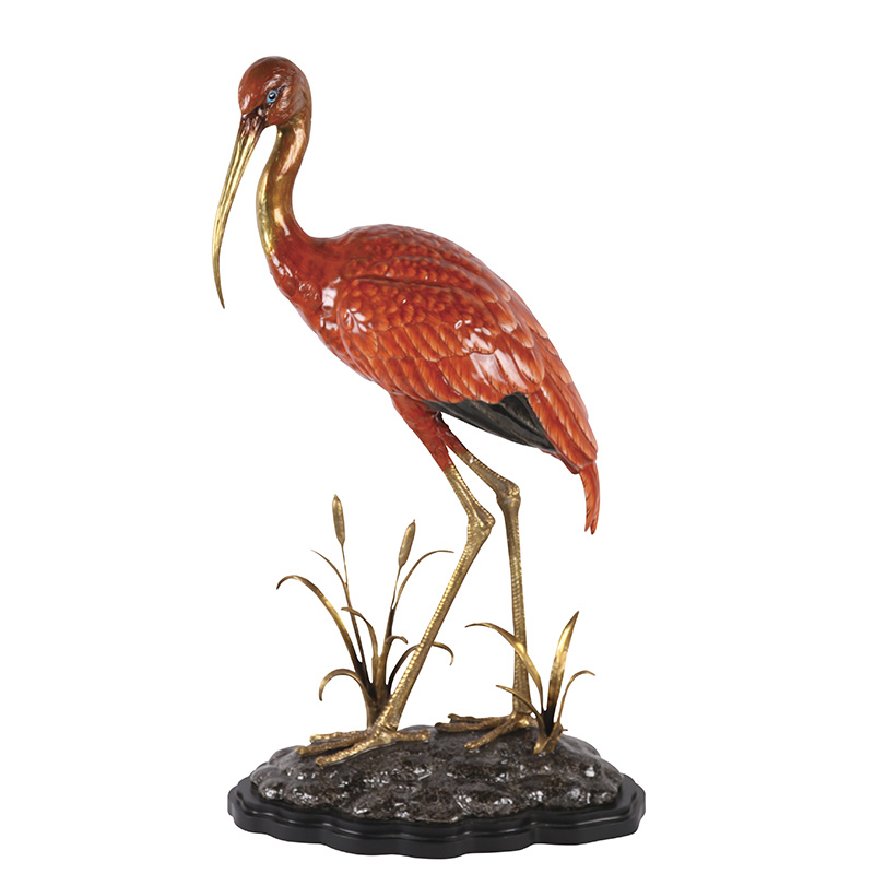 Red Crane Figurine
