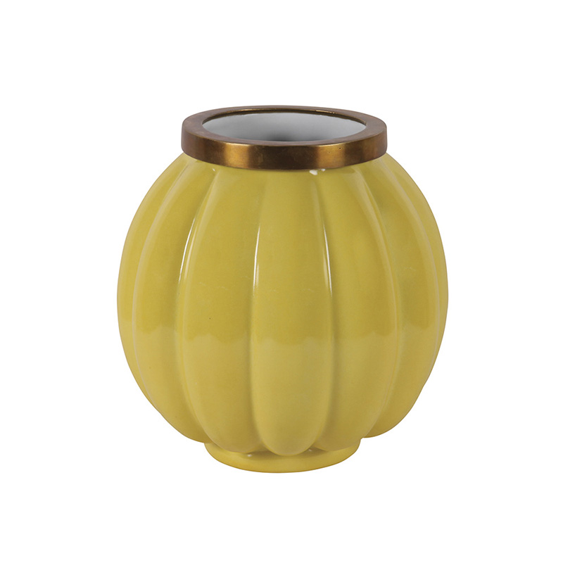 Yellow Femvelar Vase Small London Essentials Luxury