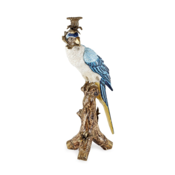 Lantin Parrot Candleholder, Blue