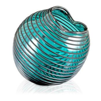 Pomny Vase, Stripes Green