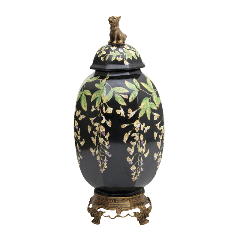 Wisteria Canister with Dog