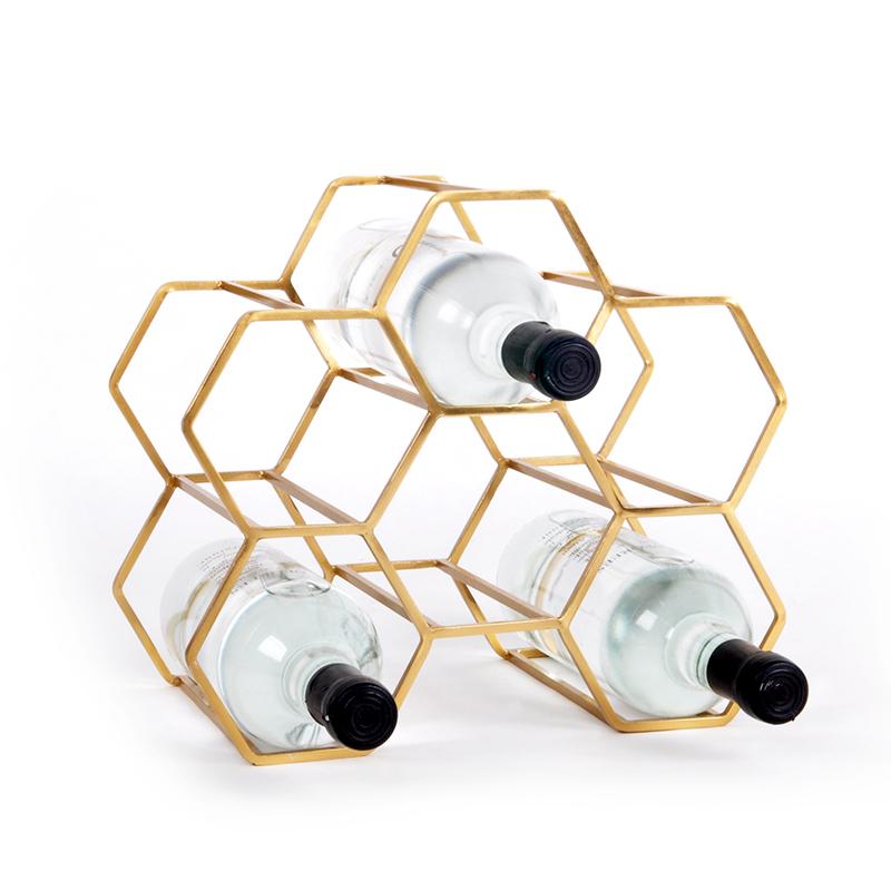 Covi Wine Rack, Brass (6)