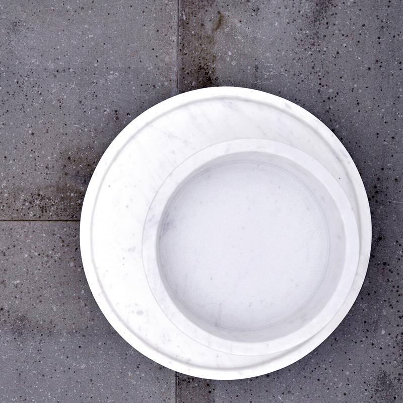 Forte 2 Marble Bowl, White