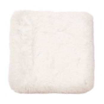Faux Fur Throw, Blanc