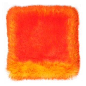 Faux Fur Throw, Orange