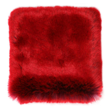Faux Fur Throw, Rouge