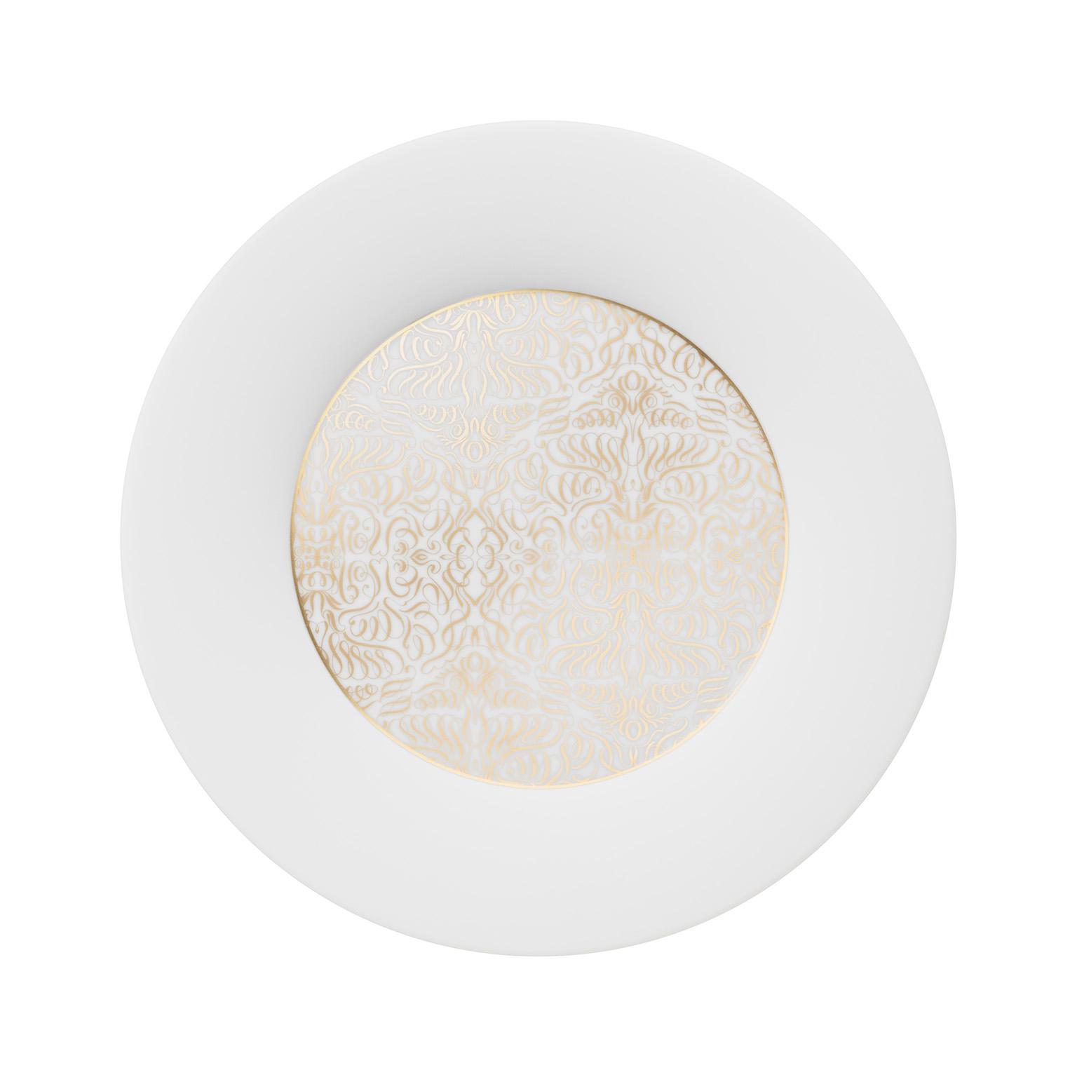 Alif Gold Dinner Plate