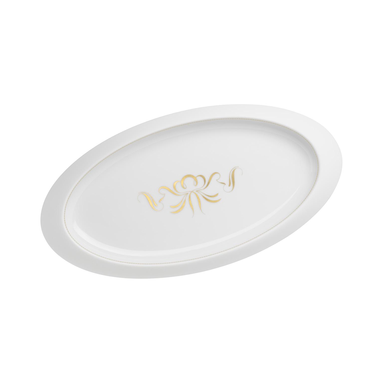 Alif Gold Oval Platter