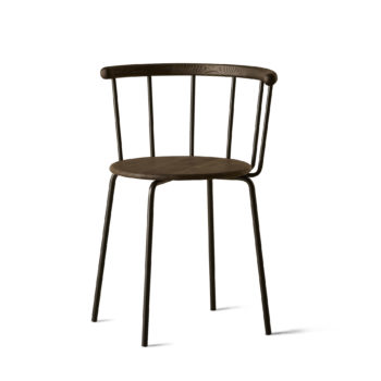 Babette Chair in Black Steel and Black Stained Oak