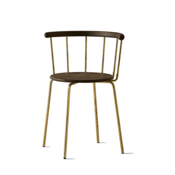 Babette Chair in Brass and Black Stained Oak