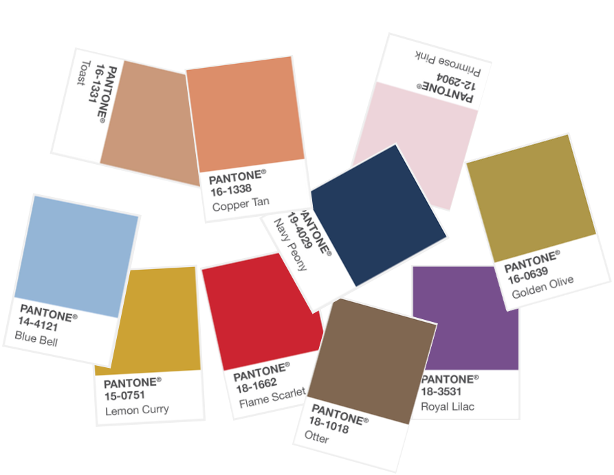 Pantone's 2017 Fall Colour Palette in Interior Design