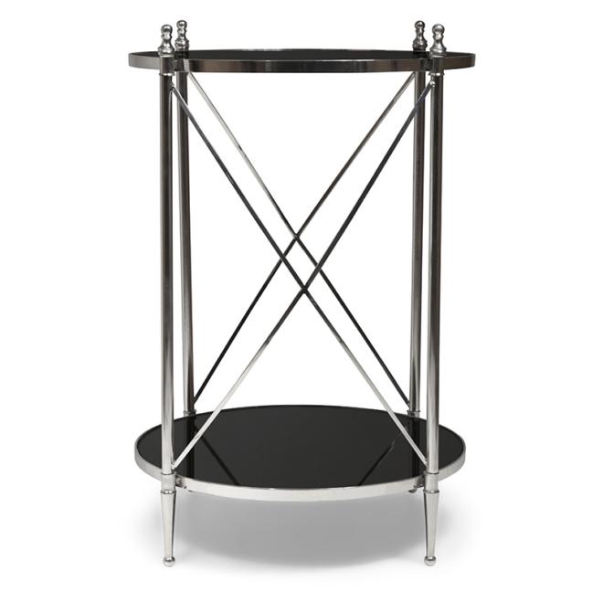 Pivot Side Table, Black Mirror