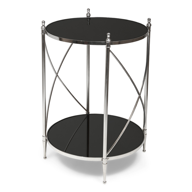 Pivot Side Table, Black Mirror