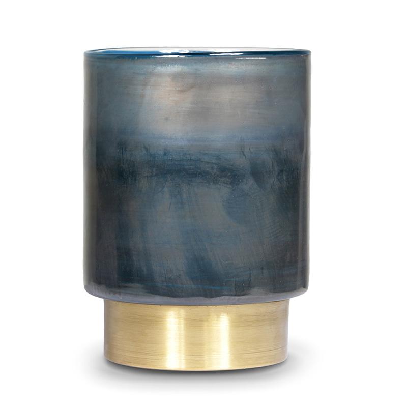 Beltra Candleholder, Bronze Blue