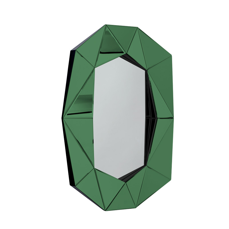 Diamond Large Mirror, Emerald