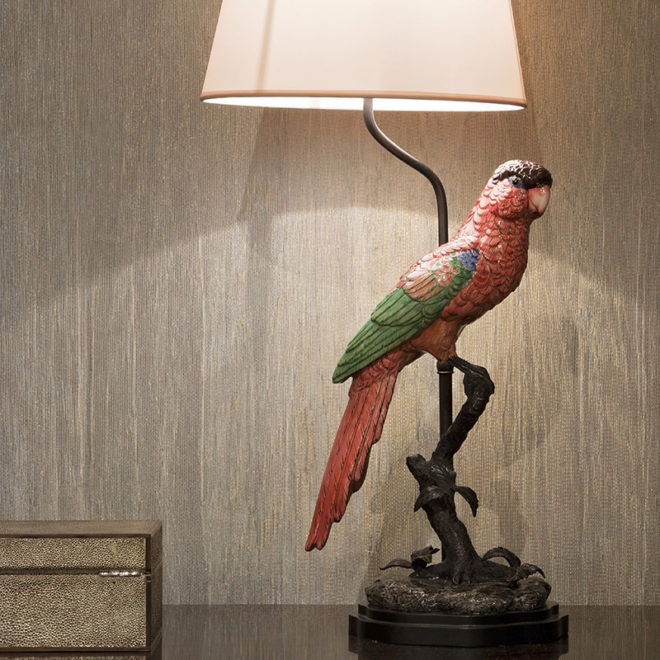 Parrot Lamp, Red