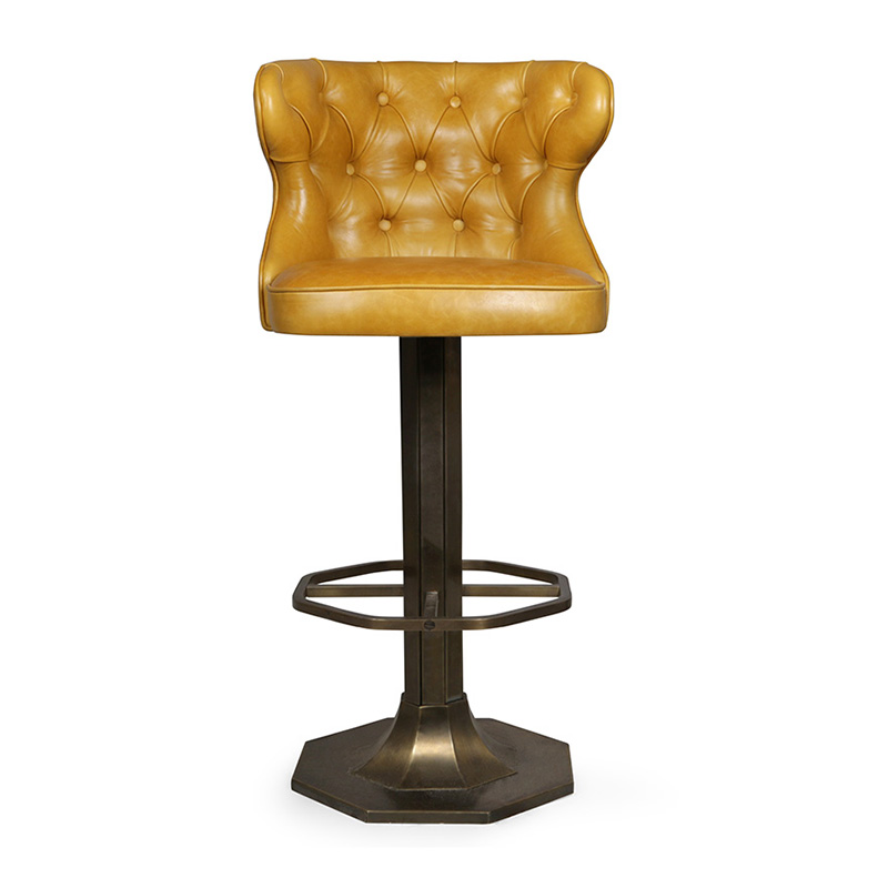 Bespoke Bar Stool, Yellow