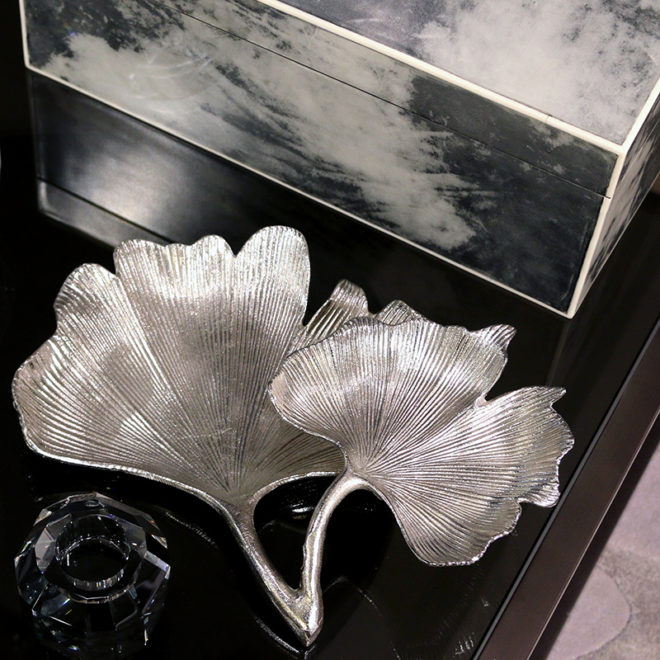 Double Leaf Dish, Silver