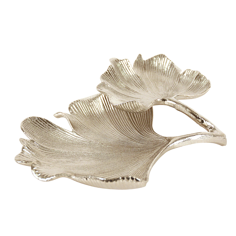 Double Silver Leaf Dish
