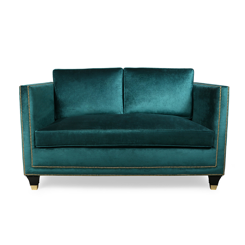 Studded Sofa, Teal