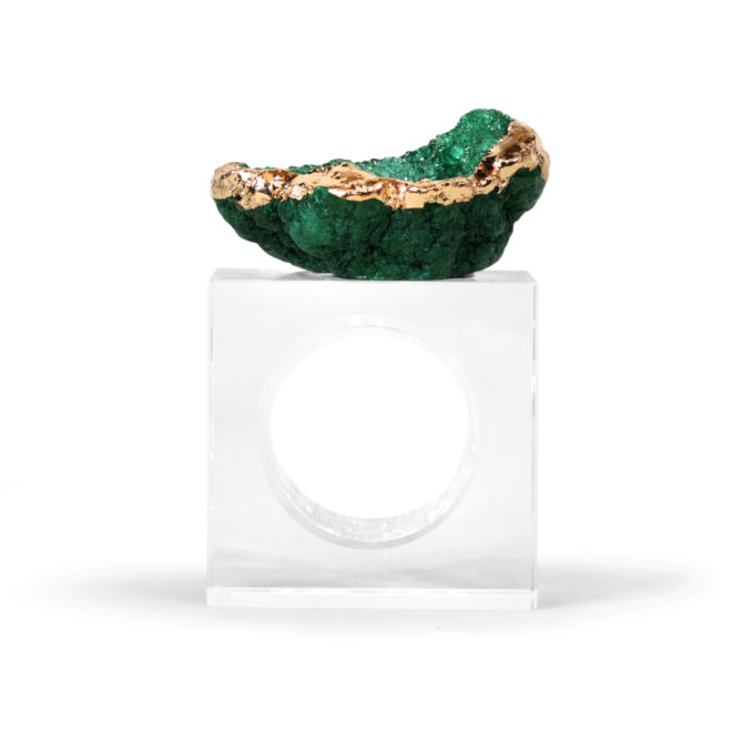 Eros Napkin Ring, Peacock