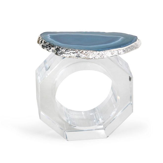 Clio Napkin Ring, Azure