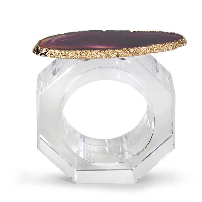 Clio Napkin Ring, Dark Orchid