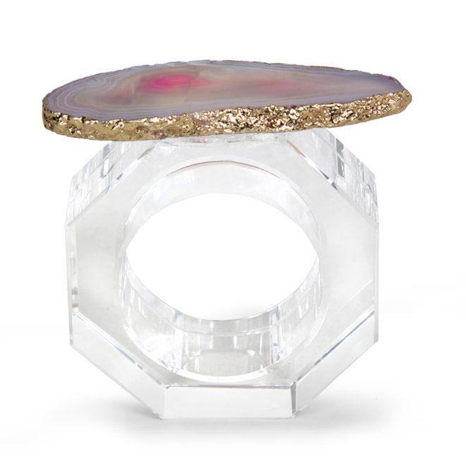 Clio Napkin Ring, Peony