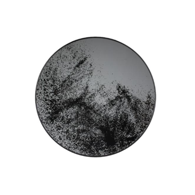 London Essentials - Heavy Aged Mirror Round Tray, Large