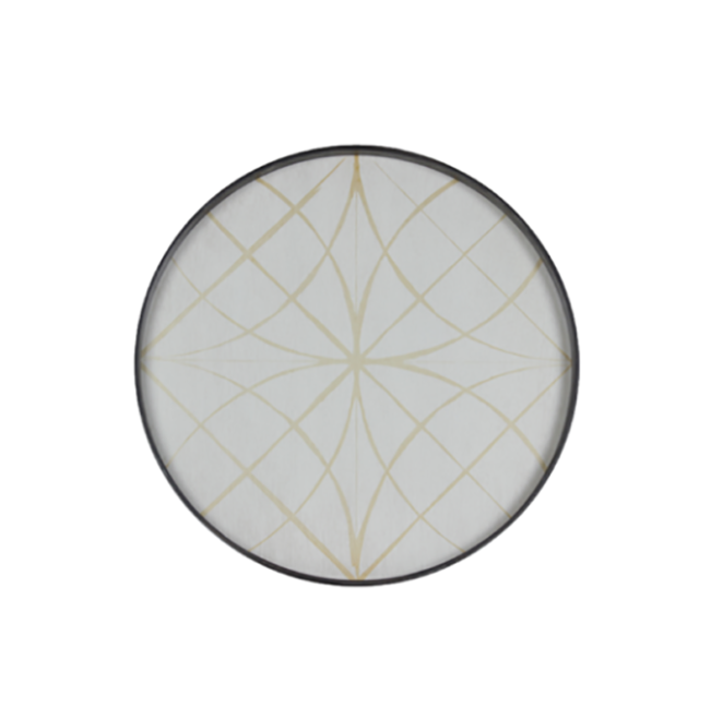 London Essentials - Geometry Round Tray, Large