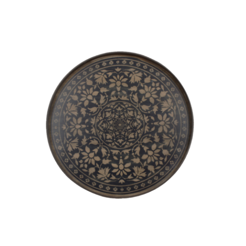 London Essentials - Black Marrakesh Driftwood Round Tray, Large