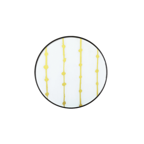 London Essentials - Gold Dots Round Tray, Small