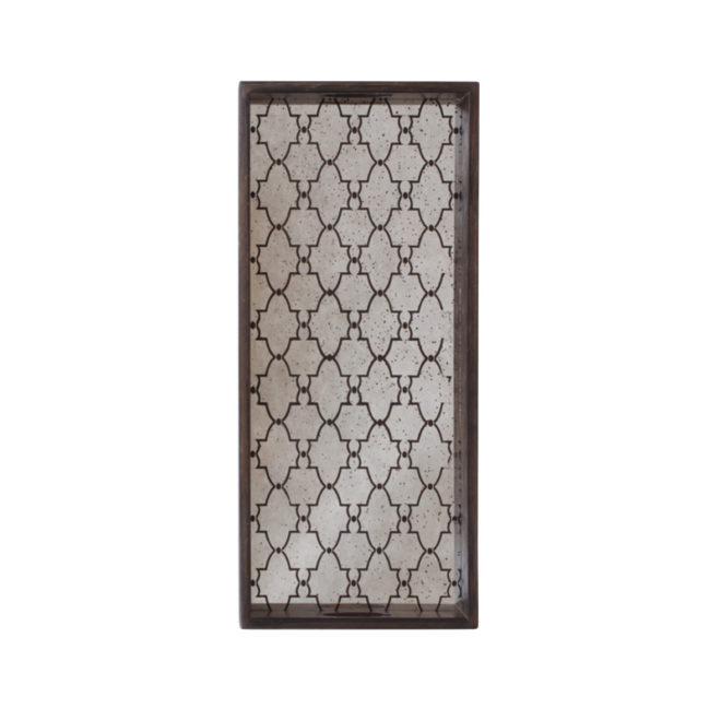 London Essentials - Bronze Gate Mirror Rectangular Tray, Medium