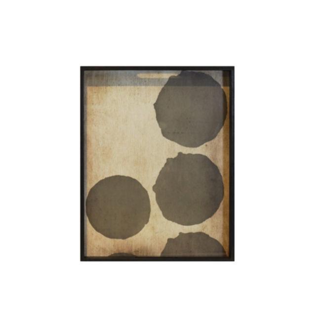 London Essentials - Silver Dots Rectangular Tray, Small
