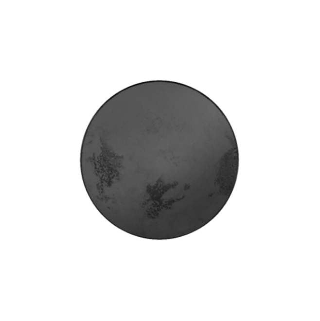 London Essentials - Charcoal Heavy Aged Mirror Round Tray, Small